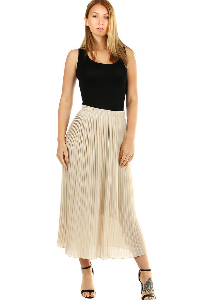 Glara Plisovaná midi sukně s menšími sklady 477896