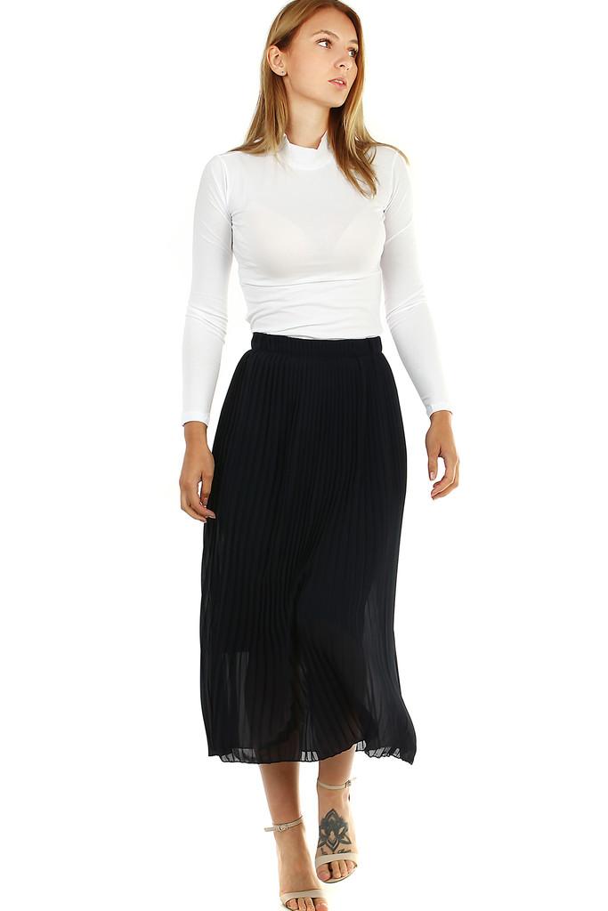 Glara Plisovaná midi sukně s menšími sklady 477901