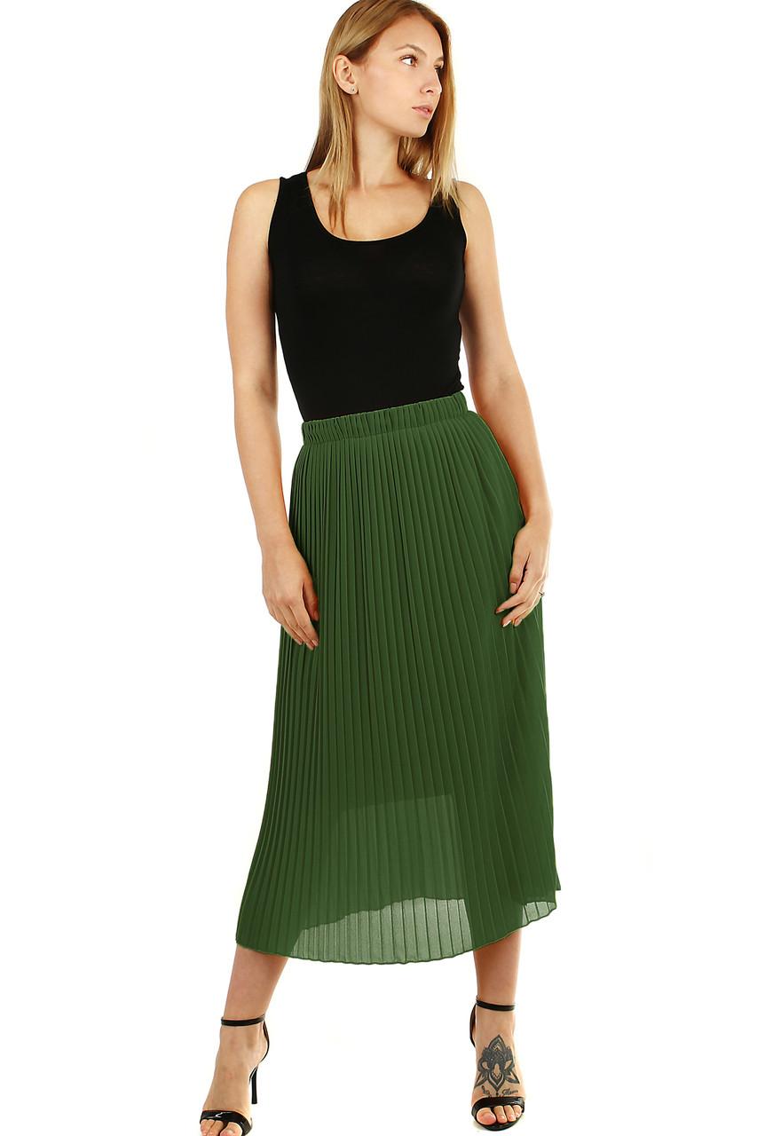 Glara Plisovaná midi sukně s menšími sklady 537299