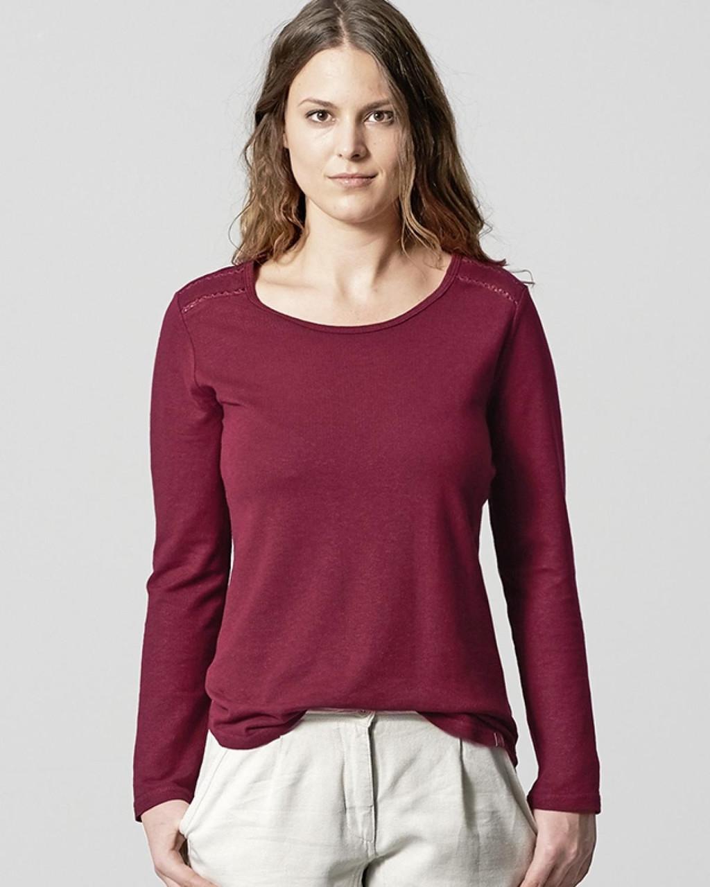 Glara Konopné dámské bio triko s průstřihy 568630