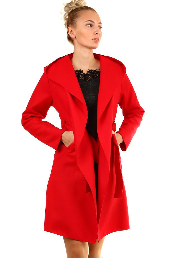 Glara Delší dámský kabát s kapucí 400173