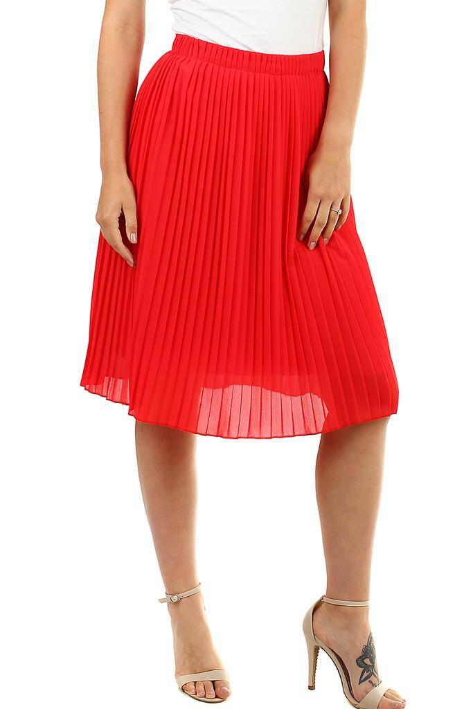 Glara Dámská plisovaná sukně s pružným pasem 468724