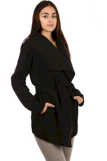 Glara Dámský kabát s páskem 703633