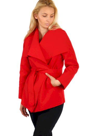 Glara Dámský kabát s páskem 209186