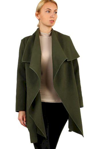 Glara Dámský kabát s páskem 405604
