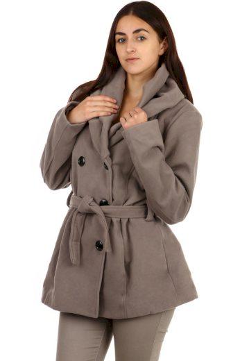 Glara Zimní dámský kabátek s límcem 83983