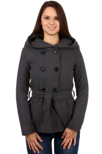 Glara Krátký dámský vlněný kabátek s hadím vzorem 90761