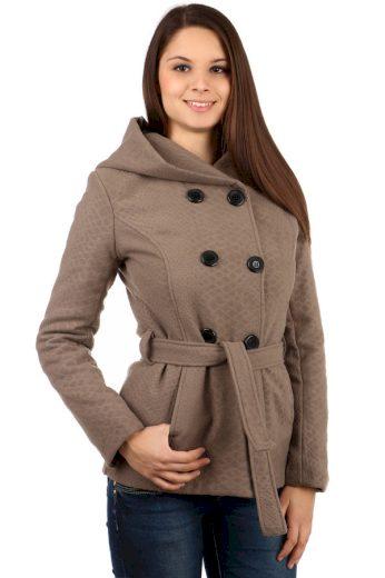 Glara Krátký dámský vlněný kabátek s hadím vzorem 90766