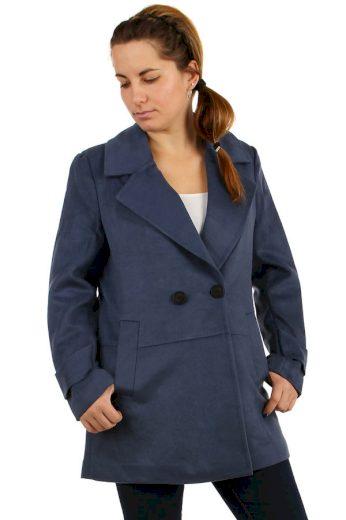 Glara Dámský objemný kabát na knoflík 175705