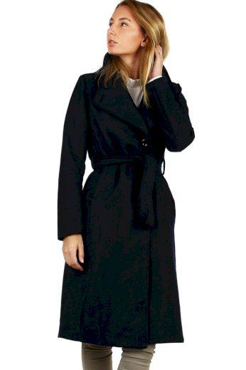 Glara Dlouhý přechodný dámský kabát 497543