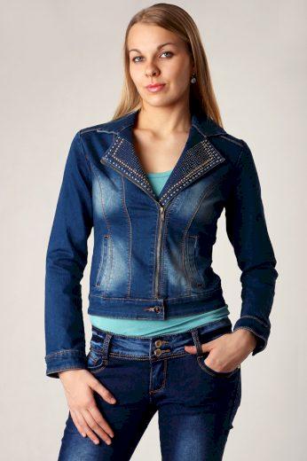 Glara Zdobená dámská džínová bunda 9309