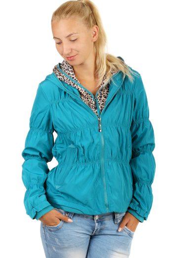 Glara Dámská větruodolná bunda na zip 71364