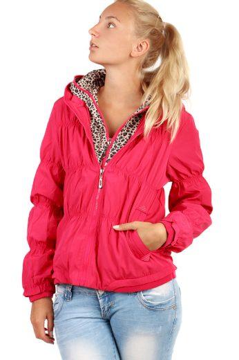 Glara Dámská větruodolná bunda na zip 71368