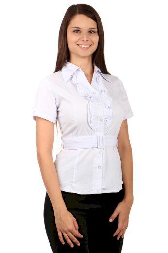 Glara Dámská společenská halenka s fiží a krátkým rukávem 67563
