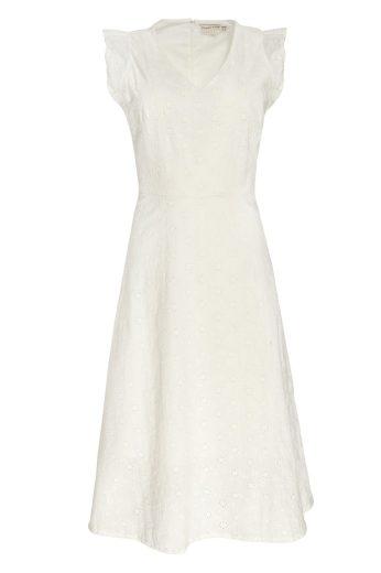 Glara Bílé květinové eko šaty 690573