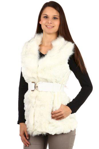 Glara Dámská zimní kožešinová vesta 87493