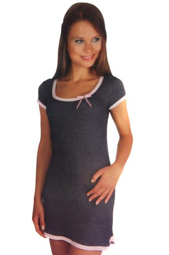 Glara Dámská krátká noční košilka s krátkým rukávem 86541