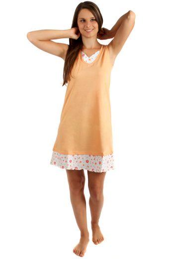 Glara Dvoubarevná dámská noční košilka s ozdobným lemem 158891