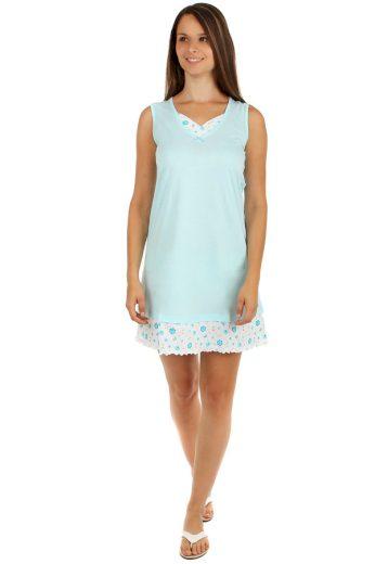 Glara Dvoubarevná dámská noční košilka s ozdobným lemem 158895