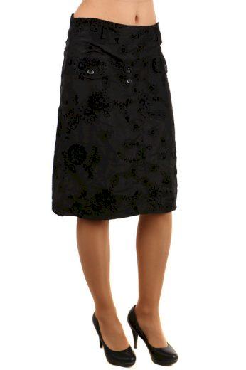 Glara Dámská letní midi sukně s květinovým vzorem 121745