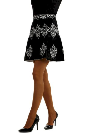 Glara Dámská áčková zimní krátká sukně 180553