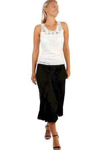 Glara Dlouhá dámská společenská sukně s krajkou 241012