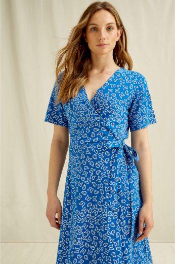 Glara Dámské zavinovací šaty z biobavlny 692633