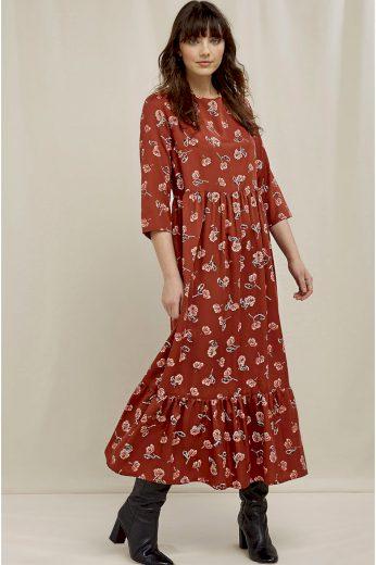 Glara EKO dámské vzorované šaty ke kotníkům 692921