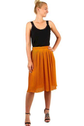 Glara Dámská plisovaná skládaná midi sukně v pase pružná 335326