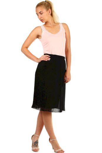 Glara Dámská plisovaná skládaná midi sukně v pase pružná 335328