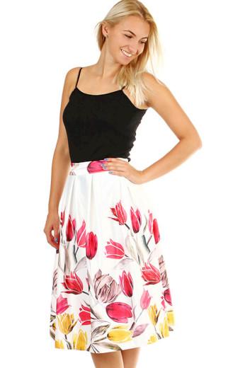 Glara Dámská áčková květovaná sukně 377133