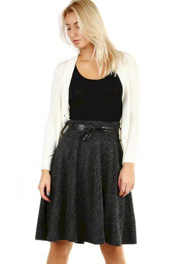 Glara Zimní áčková sukně žíhaný vzor 393923