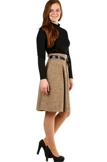 Glara Zimní áčková sukně žíhaný vzor 400142