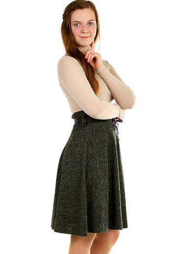 Glara Zimní áčková sukně žíhaný vzor 402467