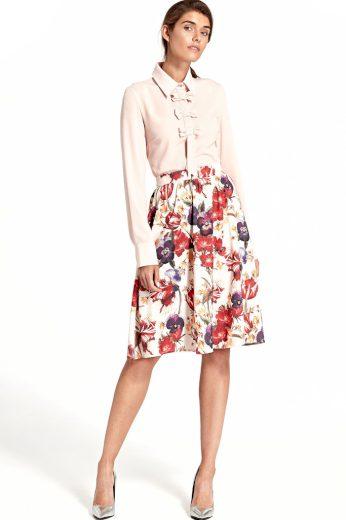 Glara Půlkolová sukně s květinovým potiskem 401887