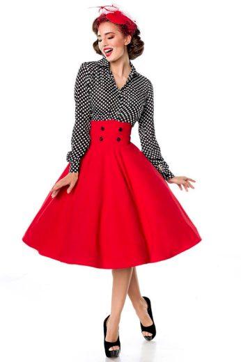 Glara Retro sukně s vysokým pasem 402018
