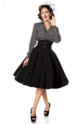 Glara Retro sukně s vysokým pasem 402020