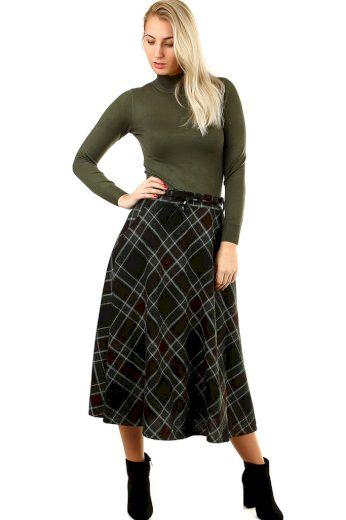 Glara Dlouhá úpletová sukně 418885