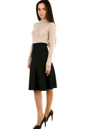 Glara Dámská úpletová černá sukně 441344