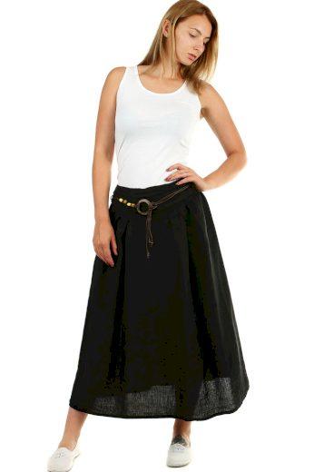 Glara Dámská dlouhá balonová sukně lněná 456715