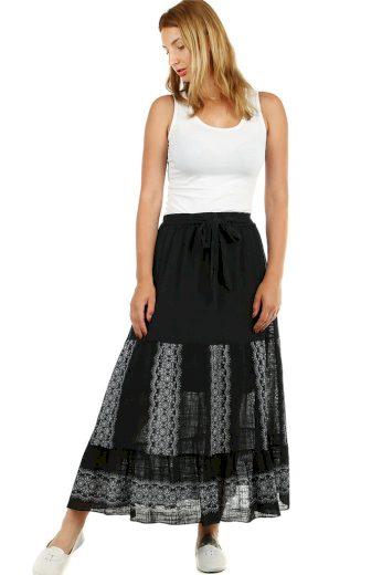 Glara Dámská dlouhá letní sukně s etno vzorem 460777