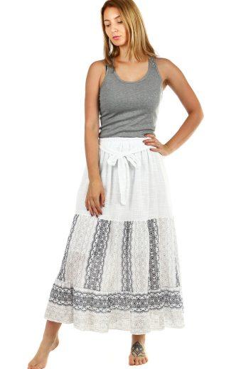 Glara Dámská dlouhá letní sukně s etno vzorem 460784
