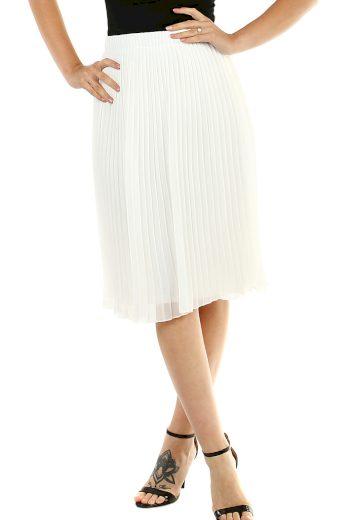 Glara Dámská plisovaná sukně s pružným pasem 468722