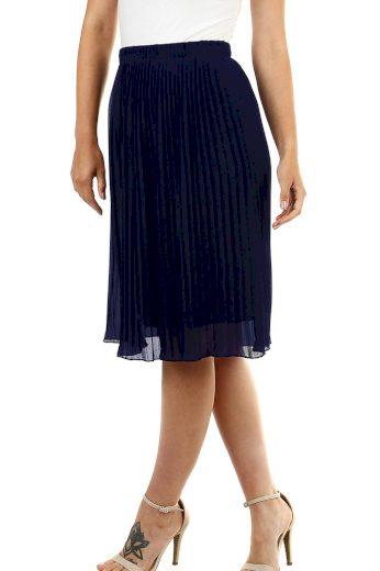Glara Dámská plisovaná sukně s pružným pasem 472612