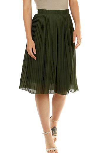 Glara Dámská plisovaná sukně s pružným pasem 472613