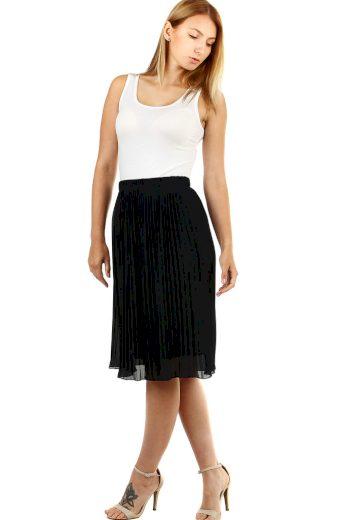 Glara Dámská plisovaná sukně s pružným pasem 537278