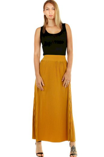 Glara Maxi sukně dámská plisovaná 468849