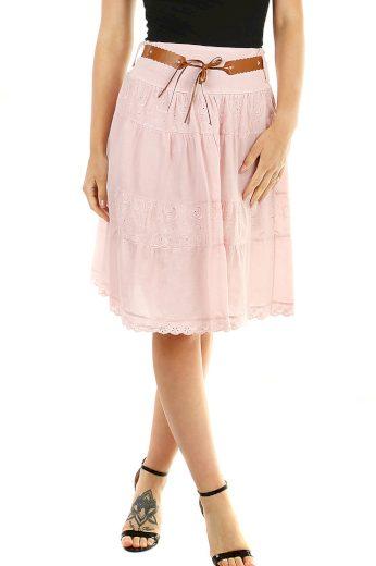 Glara Bavlněná dámská sukně s krajkou 469571