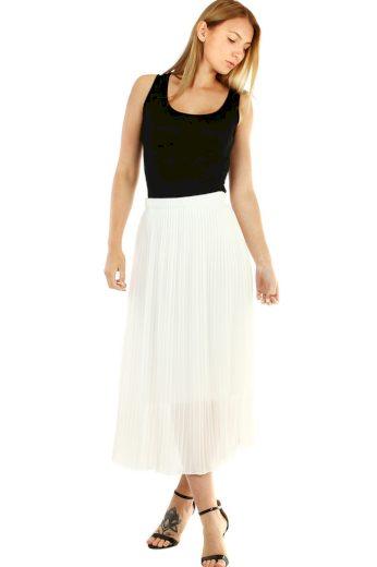 Glara Plisovaná midi sukně s menšími sklady 477895