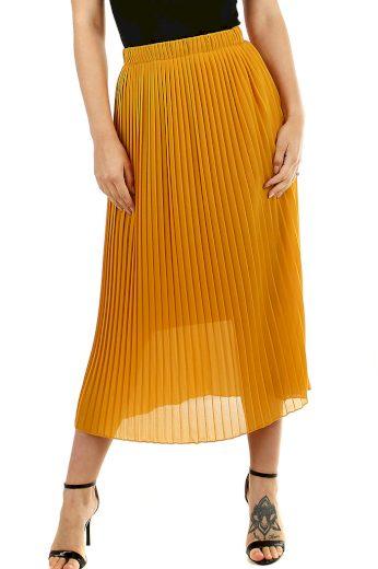 Glara Plisovaná midi sukně s menšími sklady 477897